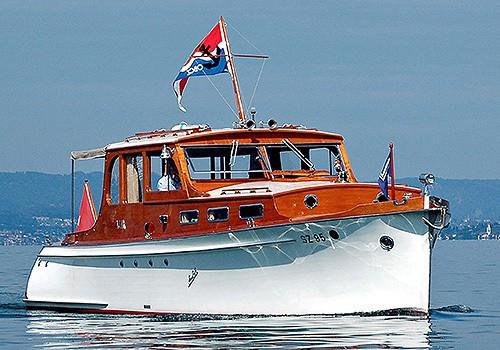 Oldtimer Motorboot Firmenevent Schweiz Swiss Craft
