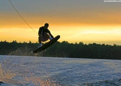 jay-wakeboarding-dusk-sunset-bobcaygeon-pigeon-lake